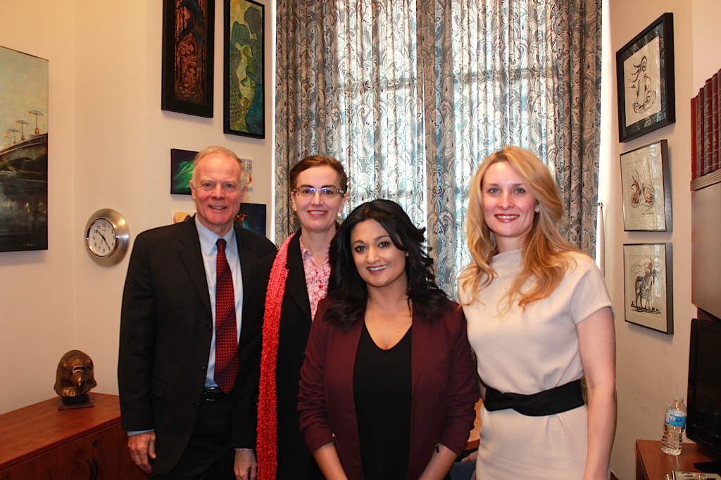 Dr. Jon Gerrard (Former Leader, Liberal Party), Dr. Moira Somers (Director, Business of Practice, MPS), Ms. Rana Bokhari (Leader, Liberal Party), and Dr. Andrea Piotrowski (President, MPS).